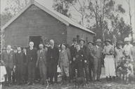 Some of the company assembled at the opening of the Megalong Valley Congregational Church