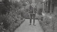 Arthur Hunter in side garden of Echoville