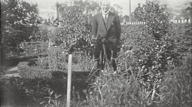 Arthur Hunter in front garden of Echoville