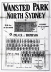 Wansted Park, North Sydney, 24th September,1892?, 1898, 1904?, 1910?