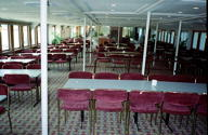Ex Manly ferry SOUTH STEYNE,upper deck with dining room