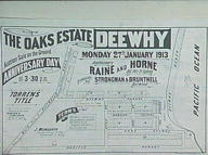 Oaks Estate, Dee Why, 27th Jan. 1913 : sales plan